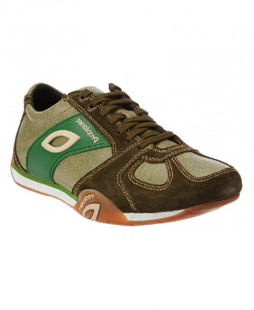 ORIGINAL WOODLAND Mens Green Sneakers shoes