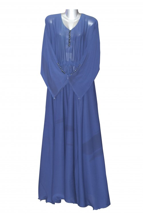 Women's Beautiful Crafted Abaya Modern Islamic Button Borka