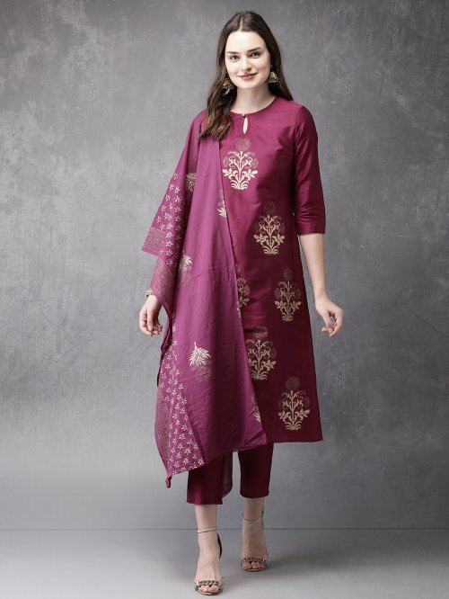 Latest Block Printed 3 pieces Salwar Kameez for Women rb-64