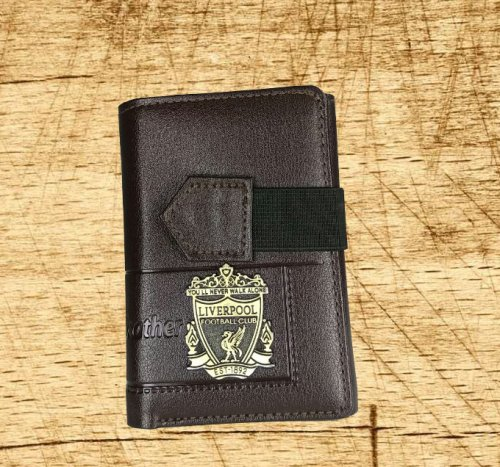 Liverpool card holder and wallet brown