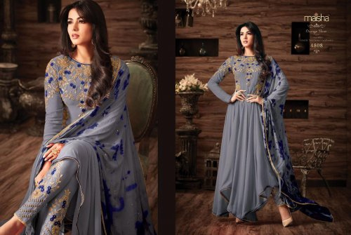 un-stitched georgette with embroidery salwar kameez maisha-4809