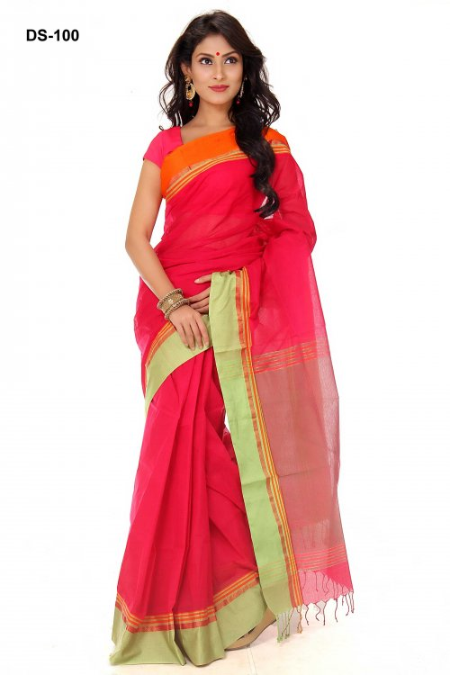 Boishakhi tat cotton Saree Bois-100