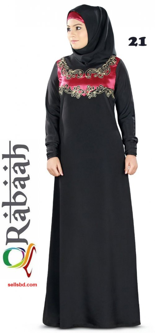 Fashionable muslim dress islamic clothing Rabaah Abaya Burka borka 21