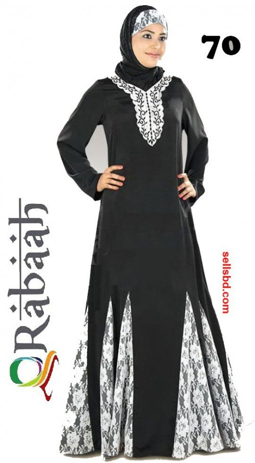 Fashionable muslim dress islamic clothing Rabaah Abaya Burka borka 70
