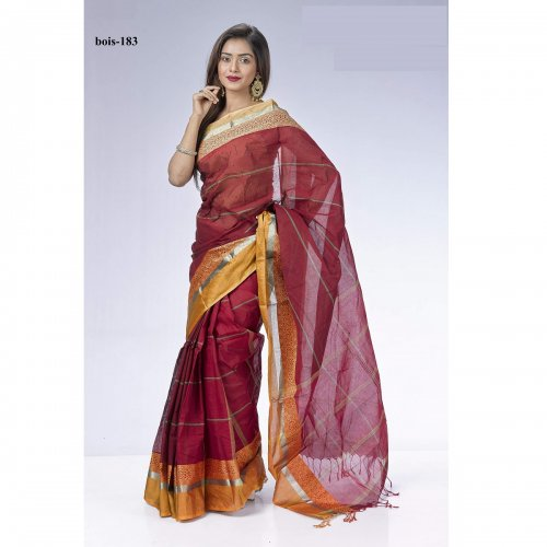 Tat cotton saree bois-183
