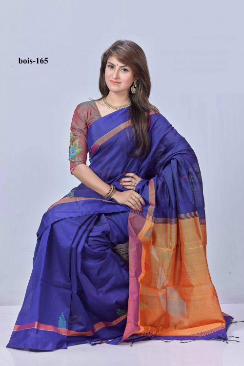 Monipuri tossor silk Saree bois-165