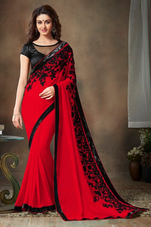 Weight Less Georgette saree SS-367