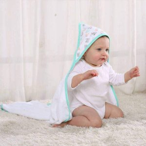 LAT towel with nice handkerchief for white and striped bath towel