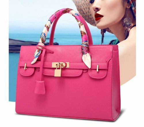 ladies hand bag pink