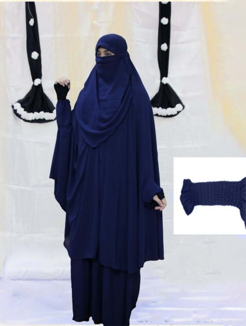 Khimar adjusted niqab with skirt borkha full set for women pv-11