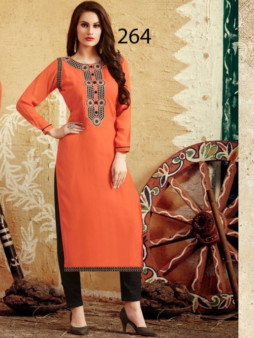 Latest Designers Kurti party wear ladies salwar suits 264