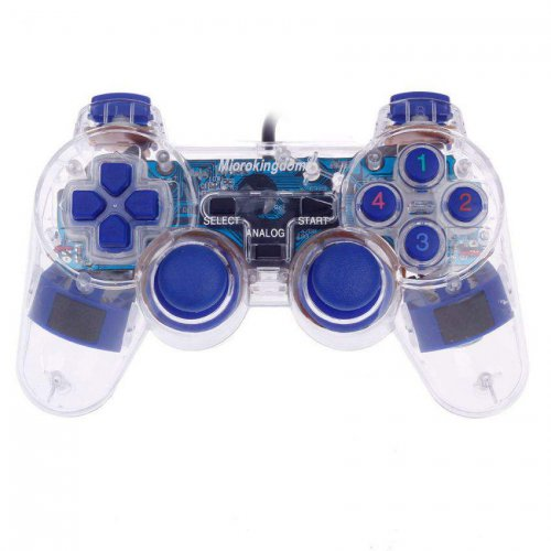 Microkingdom USB Transparent Dual Shock Joystick