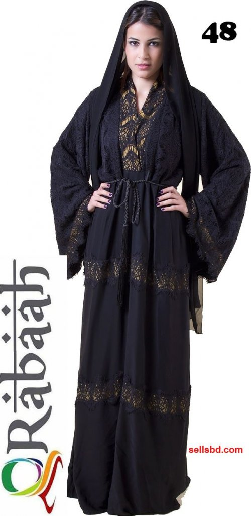 Fashionable muslim dress islamic clothing Rabaah Abaya Burka borka 48