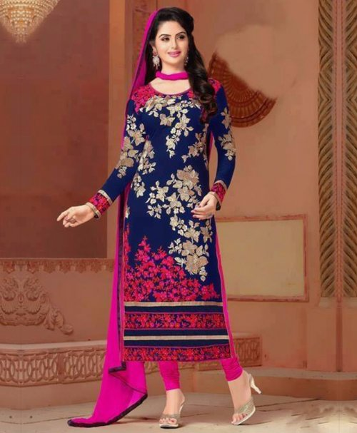 Unstitched Cotton Block Printed Salowar Kameez seblock-328