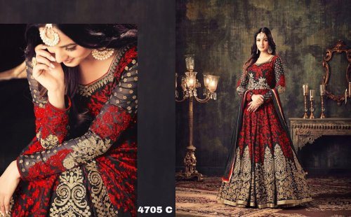 georgette with embroidery work salwar kameez suit maisha 031