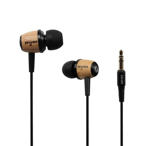 Super Bass Stereo HiFi Wooden Headphones Earphones Headsets For iPhone Samsung MP3 MP4 PC Awei ES-Q9