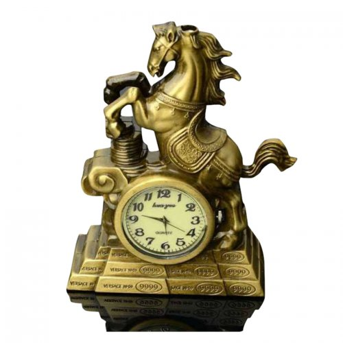 Antique Horse Clock with Lighter