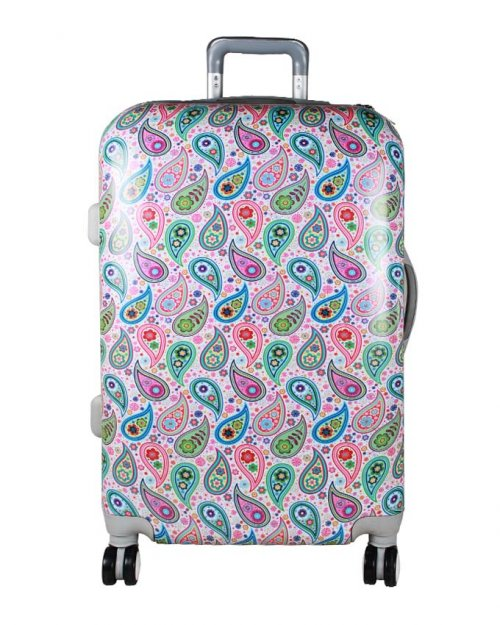 NOKSHI ROLLING SPINNER WHEELS SCRAWL TROLLEY SUITCASE LUGGAGE