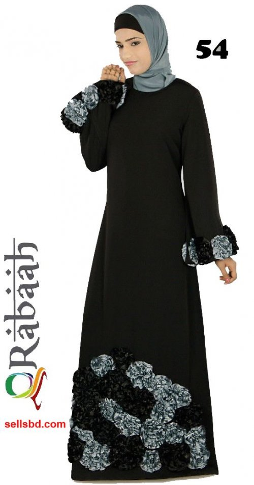 Fashionable muslim dress islamic clothing Rabaah Abaya Burka borka 54