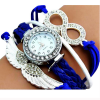 Bird Shape Blue Leather Bracelet Watch