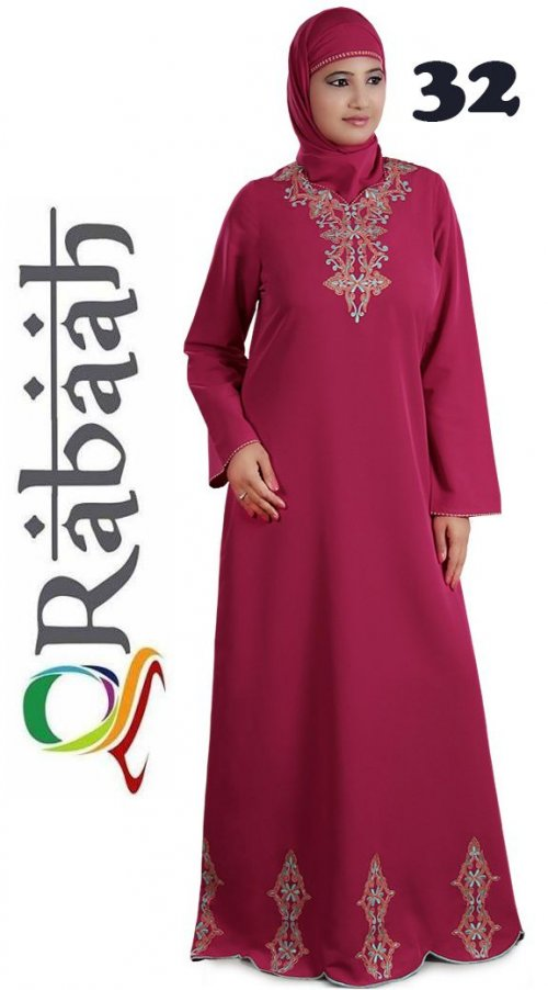 Fashionable muslim dress islamic clothing Rabaah Abaya Burka borka 32
