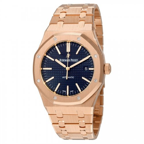 Audemars Piguet 15400 Royal Oak Selfwinding Rose Blue Watch