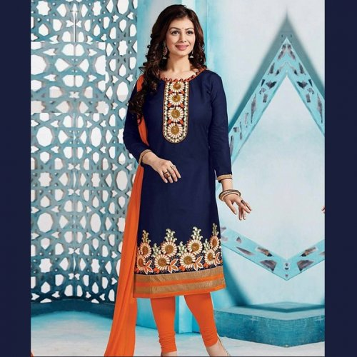 Unstitched Cotton Block Printed Salowar Kameez seblock-343