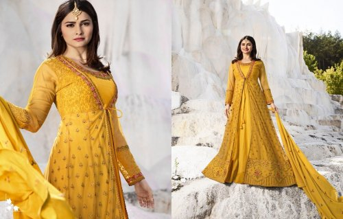 Prachi Desai Georgette Designed Embroidery Long Salwar Suit