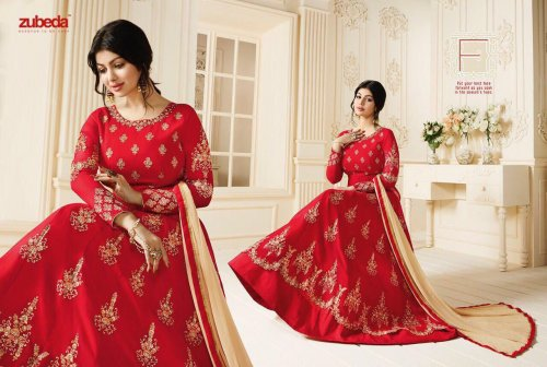 GEORGETTE WITH EMBROIDERY WORK FLOOR LENGTH ANARKALI SALWAR SUIT ayesha 010