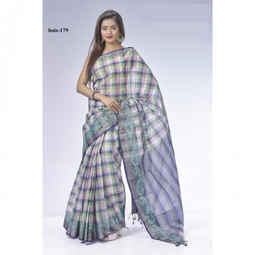 Tat cotton saree bois-179