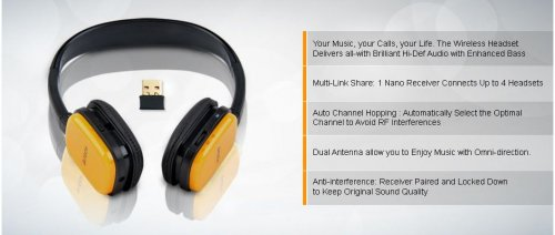 A4Tech HD Wireless Folding Rechargeable USB Headset (RH-200-3)