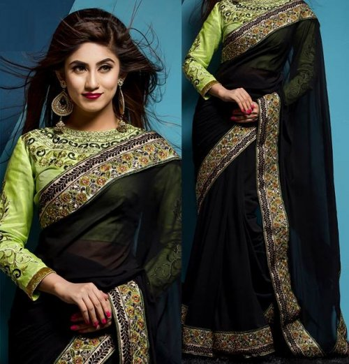 Weight Less Georgette saree SS-153