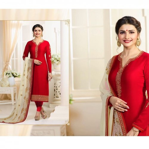 Party Dress Red Anarkali Suit vinay PRACHI 51095