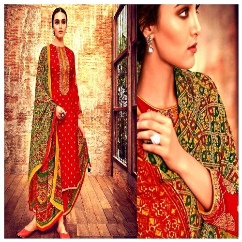Semi stitched Stylish Suti Party Wear Designer Salwar Suit