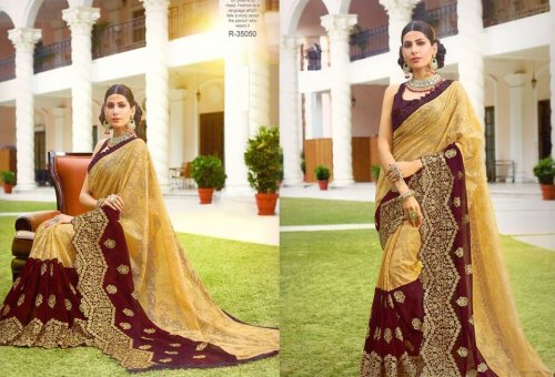 Georgette and embroidery work saree ssc-732