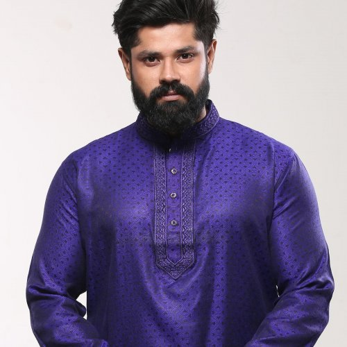 Men's Cotton Punjabi - Royal Blue