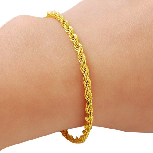 24k Gold Plated Chain Bracelet