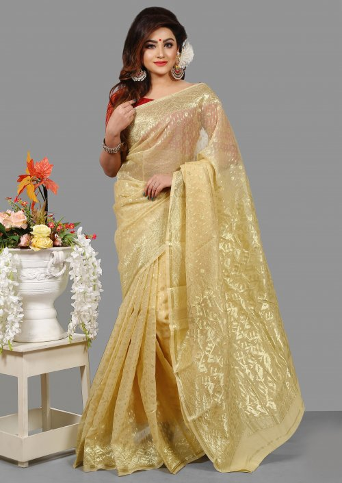 Silk Jamdani Saree for Woman bois-305