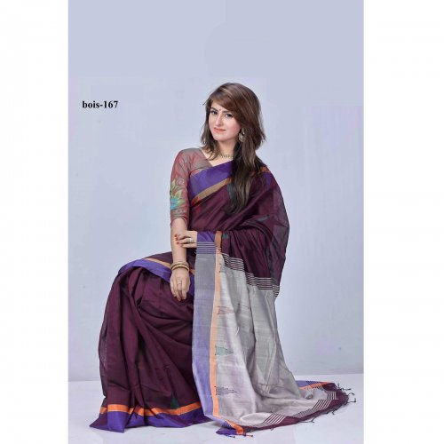 Monipuri Tossor Silk saree bois-167
