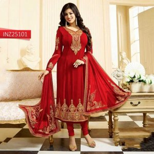 Un-stitched georgette with embroidery ayesha takia salwar kameez