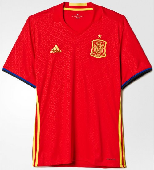 Spain Euro Jersey Red