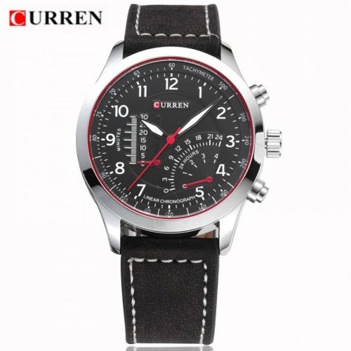 Curren Scale Leather Analog Watch