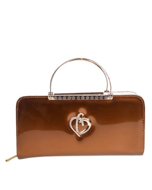 Leather Clutches - Coffee sl43