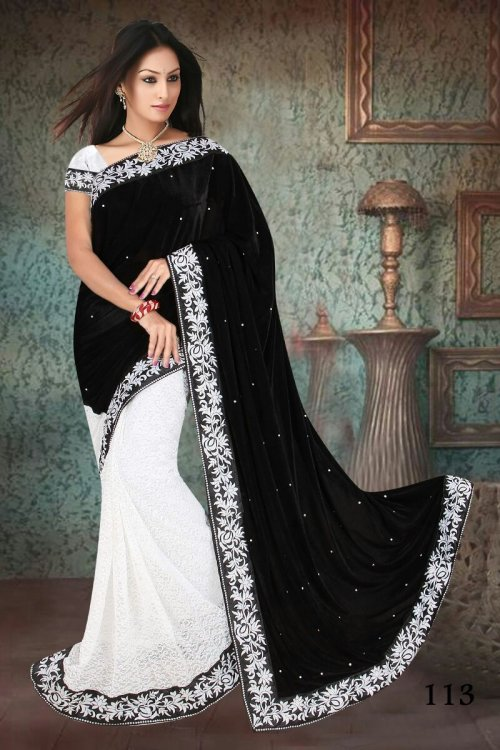 Weight Less Georgette saree  SS-364