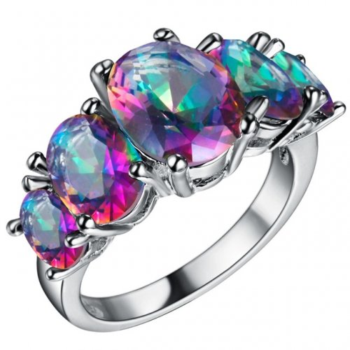 Ringbow Wedding jewelry Czech zircon Finger ring