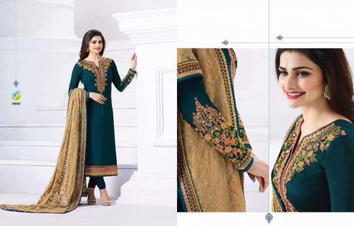 Party Dress Green Anarkali Suit vinay PRACHI-5642