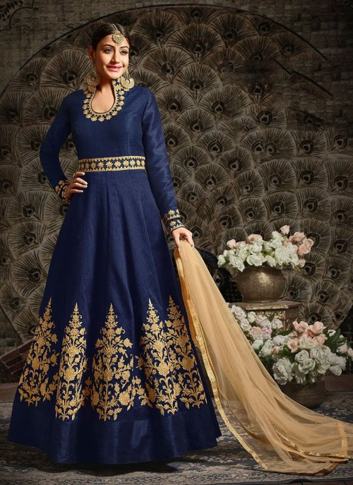 georgette with Embroidery Floor Length Designer salwar suit surbhi 030