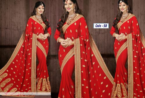 Weight Less Georgette saree Hp-58