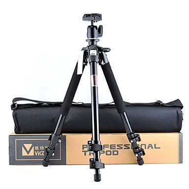 VICTORY 3080B Universal Aluminum Tripod with 360-Degree-Rotating Ball Head