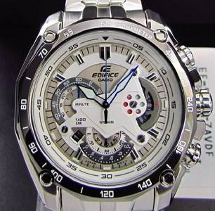 Casio EF-550D-7A and 1A Elegance Racing Style Fashion Chronograph Mens Watch